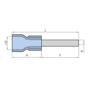 Borne à lame d'entrée facile isolée en PVC