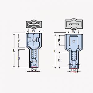 Copiose Geminus-Compositio: Nylon Insulated Crimp Male Disconnector