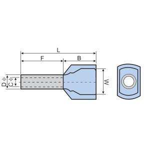 绝缘易插入双线端子(由注塑机生产)