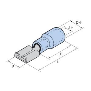 Geminus-Pvc Insulated Crimp Male Disconnector