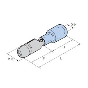 PVC绝缘双压接子弹公头隔离开关