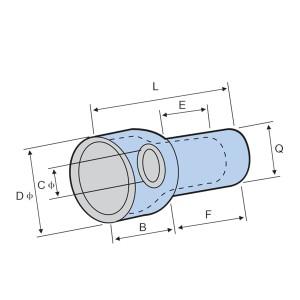 Connecteur plat à extrémité étroite